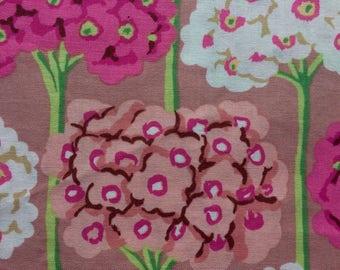 Kaffe Fassett Verbena, pink, OOP, rare, vhtf, half yard large repeat floral fabric