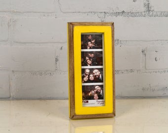 "Photo Booth Frame 2 x 6 for Picture Strip in 1x1 2-Tone Style in COLOR of YOUR CHOICE - 2x6"" Wedding Photo Booth Frame - Wedding Favor"