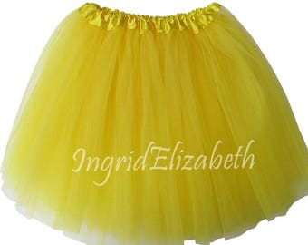 Yellow Teen Adult 4 Layer Tutu ... Adult Tutu Costume Color Run Tutu Bachelorette Party