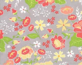 LuLu Lane Moda Floral Flower Fabric Garden Spring Flowers on Light Grey Gray 29020 21