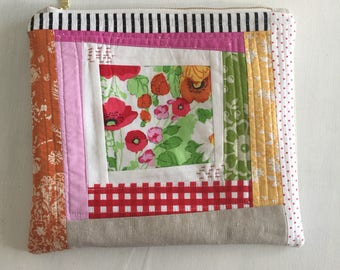Tablet/E-Reader/Kindle/iPad Pouch, Planner Pouch - Large Pouch : Linen and Thread