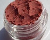 Semi-Matte Orange-Red| Shimmer| Vegan Mineral Eye Shadow| Cruelty Free| Soft Pink Shimmer- Burning Daylight