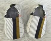 Olive Black Blue Orange Geometric - Elastic Back - Made to Order