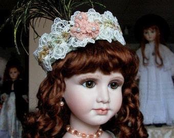 "Porcelain  doll ""Elise"" with silk costume by Emily Hart Grandmaster Dollmaker"