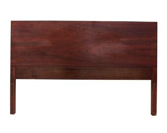 Minimalist Full Walnut Headboard Mid-century Modern American of Martinsville Dillingham