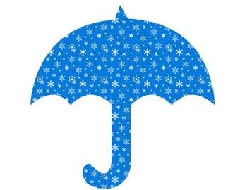 Christmas Umbrella CU3-Digital Clipart-Gift Tag-Gift Card-Website-Banner-Background-Outside-Notebook-Scrapbook.