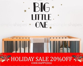 Dream Big Little One Quote Lettering Wall Decal For Your Child Wall Words