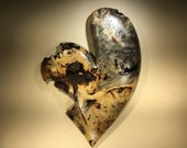 Heart best gift ever 50th Anniversary gift heart art wood carving by Gary burns