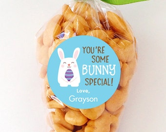 """Easter Stickers - """"You're Some BUNNY Special"""" (Blue) - Sheet of 12 or 24"""