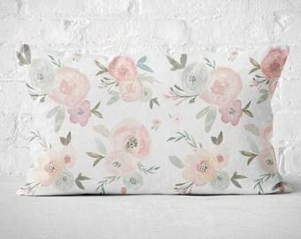 Floral Pillow Cover Lumbar Pillow Cover Auriel