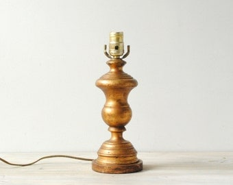 Vintage Table Lamp, Gold Lamp, Gilded Lamp