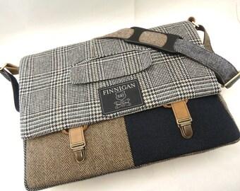 "15 inch macbook  laptop bag Mens Messenger Bag retro upcycled bag 15"" Macbook Pro Laptop sleeve Upcycled bag"