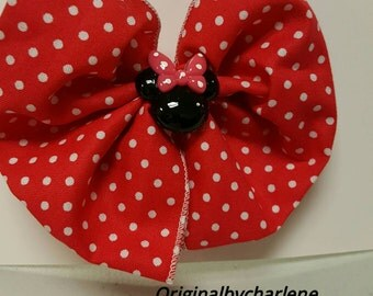 Boutique Red Dot Mouse Hairbow