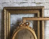 Gold frames, ornate gold frames, vintage gold frames, frame collection, set of frames, farmhouse wall, wedding frames,gold gallery wall
