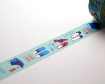Limited Edition mt Japanese Washi Masking Tape set - mt Expo 2015 Kobe - Shoes 15mm