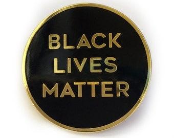 """Black Lives Matter 1"""" Enamel Lapel Pin"""