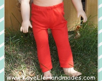 18 inch Fashion Doll Clothes - Footless Leggins/Tights - White, Yellow, Lime Green, Blue or Red