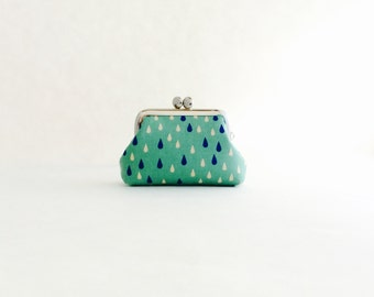 Raindrop Coin Purse Frame Mini Pouch Mini Jewelry Case with Ring Pillow