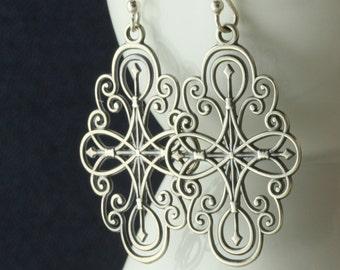 North Star Earrings, Sterling Silver Earrings, Pole Star, Polaris Celestial, Gift for Wife Girlfriend