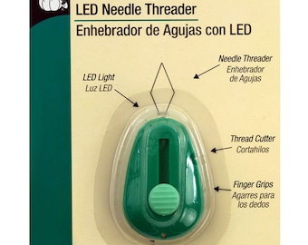 Dritz LED Needle Threader - Lit Lighted Needle Threader