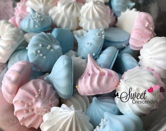 Flavored Meringue Kisses- Meringue Cookies- Birthday Party Favor- Baby Shower Favors- Bridal Shower