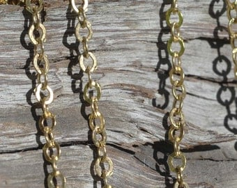 Diamond Chain 2.5mm x 3.1mm Bronze Wire Loops Soldered No Open Links - Not Brass