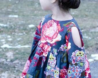Girls Dress Sewing Pattern, Easy Dress Pattern, Glitz top or dress, Boho Sewing Pattern, Girls Sewing Pattern,