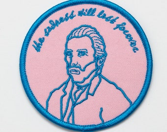 Van Gogh Embroidered Patch. The Sadness Will Last Forever Iron On Patch.