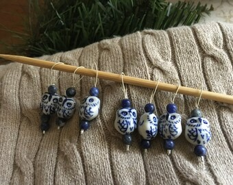 Owl Stitch Markers, Knitting Stitch Markers, Snag Free Stitch Markers, Knitter's Gift, Stitch Markers, Knitting Accessories