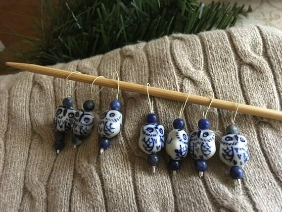 Knitting Lifeline With Stitch Markers : Owl Stitch Markers Knitting Stitch Markers Snag Free Stitch