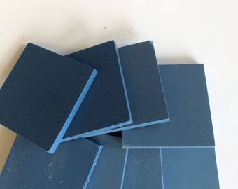 "2"" Williamsburg Blue unglazed ceramic tile-8 pc// unglazed porcelain mosaic tile"