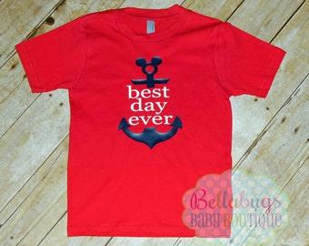 Best Day Ever Disney Anchor Tshirt - Boy - Girl  - Disney Cruise