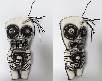 Voodoo Doll Day of the Dead Horror Doll Gothic Horror Art Doll