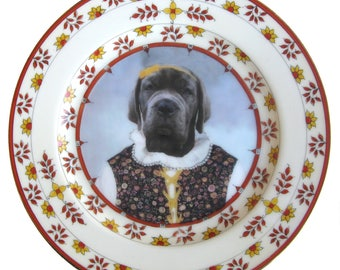 "NEW PORTRAIT*** Matilda the Mastiff Plate 6.5"""