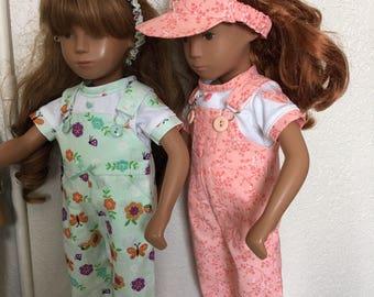 Choice of Spring Overalls, Shirt, and Visor for Sasha Doll