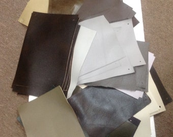 NP54DC.  Carton of 54 Leather Cowhide Swatches