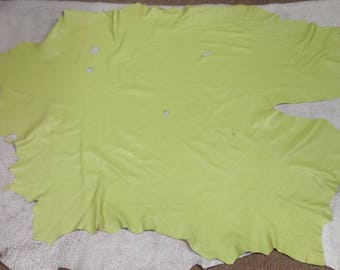 RD29.  Chartreuse Leather Lambskin