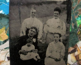 Tintype - Father & His Lady Loves