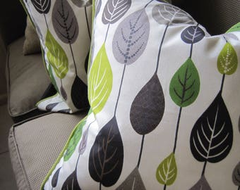 PIERRE FREY Lime Green Gray Black 20 x 20 Pillow Cover Porch Mid Century So Chic! SALE!