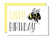Birthday Bee Letterpress Greeting Card