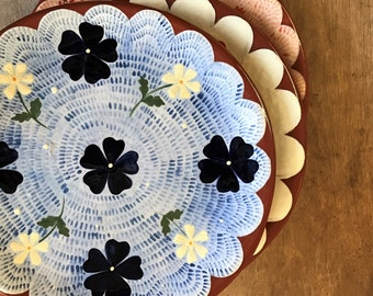 True Blue - Floral Plate, Cake Plate, Side Plate