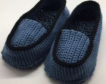men's slipper loafers – adult – crochet slippers – PATTERN ONLY - UPDATED 3/5/17