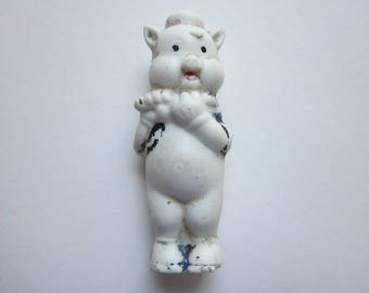vintage bisque PIG - made in Japan, Walt Disney - one of 3 little pigs