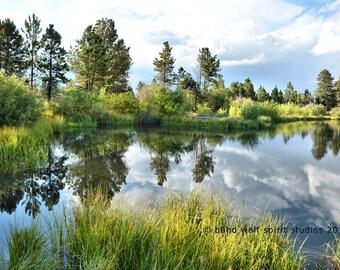 Moose Pond Reflection Photo, Flaming Gorge, Landscape, Fine Art Photo