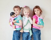 SALE PURPLE Doll/Stuffed Animal Carrier for Children-Choose Pattern