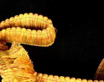 2 inch Brush Fringe Miramar Citrus  Trim Fabric