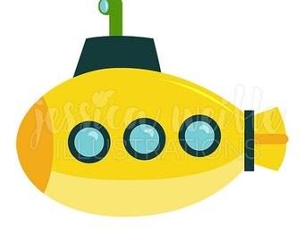 Submarine clip art | Etsy