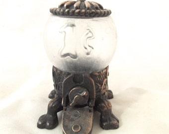 Miniature Gumball Machine, Vintage Durham Industries Metal and Plastic Decorative Item (H5)