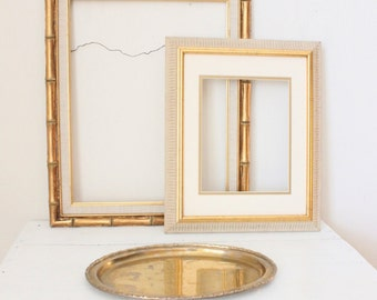 Pair of Gold Tone Picture Frames