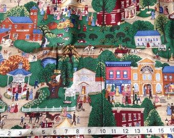 Folk Village Americana Cranston Cotton Quilting Fabric